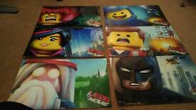 Lego movie posters x 6 gloss