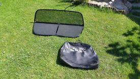 Audi A4 convertible windscreen deflector