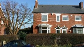 chesterfield 3 bed semi close to town centre with large garden, garage & new kitchen & bathroom