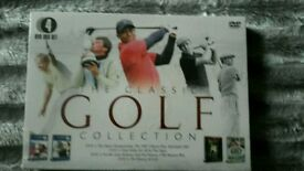 4 dvds classic golf collection in sealed packaging