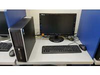 HP 8000 computer set, Intel Core 2 DUO 2.93GHz, 4GB, 500GB HDD, Windows 10 + monitor 19''