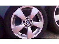"Bmw 17"" E60 E61 E46 E90 E91 122 Star Spoke Spare Single Wheel Can Post"
