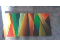 Contemporary canvas - set of 4