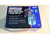 SEALEY HVLP SUCTION FEED SPRAY GUN 1,7MM NEW