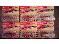 Shell V-Power Die Cast Ferrari Collectable Cars x 6