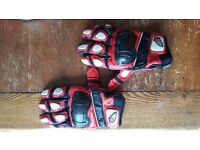 Joe Rocket short summer motorcycle gloves size L - £30