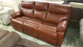 3 Seater Brown leather RRP£899