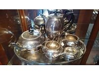 furnitureBeautiful Vintage Best Silver Plate hand Engraved Tea & Coffee Set