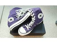 Size 6 Knee High Purple Converse With Box
