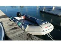 Honwave Inflatable boat T38 and 20hp 4 stroke suzuki DF20