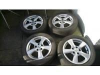 "Honda Civic 16"" Alloy wheels tyres Accord 5x114.3 CRZ type sport s r MK8 06-11"