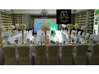 Wedding stages,venue decoration,folding chairs,tables,chaircovers,thronechairs,bridalsofa