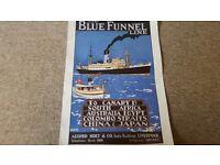 Vintage Blue Funnel Line poster