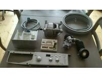 Washing Machine Parts from a Silver Indesit IWD71250S - Motor, control panel, pump etc