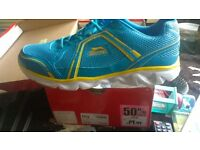 slazenger size 12 mens trainers in bright blue and yellow