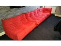 Ligne Roset Red Modular Sofa