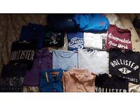 Large bundle of mens designer clothes S/M/L