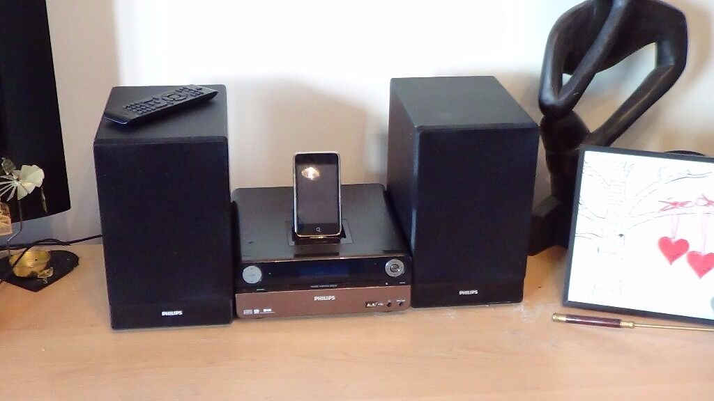 stereo sound system philips dcb152 with cd dab radio ipod dock mp3 jack bass boost in. Black Bedroom Furniture Sets. Home Design Ideas
