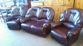2 seater sofa with matching armchairs