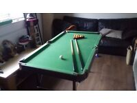 Fold Up Snooker Table 54 inches x 30 inches