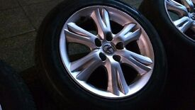 Bridgestone 205/55/16 tyres and Lexus rims 5x114.3 will fit Toyota, Lexus, Honda, Hyundai, Nissan