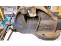 Record 36 Vice 6 inch jaw, 7.5 inch opening, quick release action, anvil. Made in Sheffield