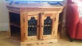 Solid oak wood TV Unit