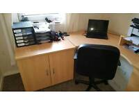 Office desk plus furniture