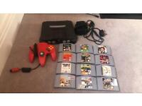 Nintendo 64 console and games bundle
