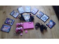 Pink ps2 singstar and games