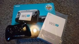 Wii U boxed with multiple games