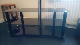 Glass TV cabinet