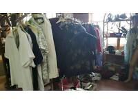Job lot of ladies clothes, shoes, bags etc