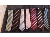 7 TIES MOSTLY NEXT BRAND ALL UNMARKED GREAT CONDITION