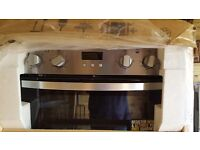 Zanussi built in Double Electric Oven, Stainless Steel