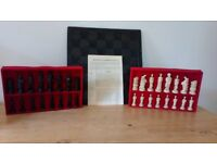 SAC, Battle of Waterloo chess pieces with carved wooden board