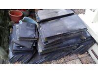 Cement fibre roofing slates