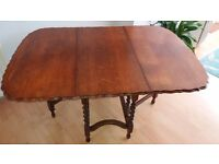 oak dining table drop leaf + free local delivery 5 miles of lancaster