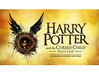 2 Harry Potter and the Cursed Child Tickets (Stalls-Row C) Parts 1 and 2 on Saturday 8th April 2017