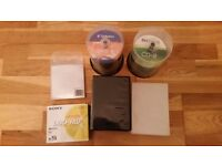 FREE - DVD RW-s, DVD-Rs, CD-Rs, DVD case and paper CD cases - no longer needed