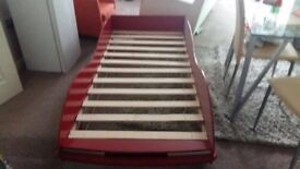 Red colour children car character single bed without Mattress