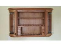 Kitchen Display Wall Unit and Two Glass Corner Wall Units