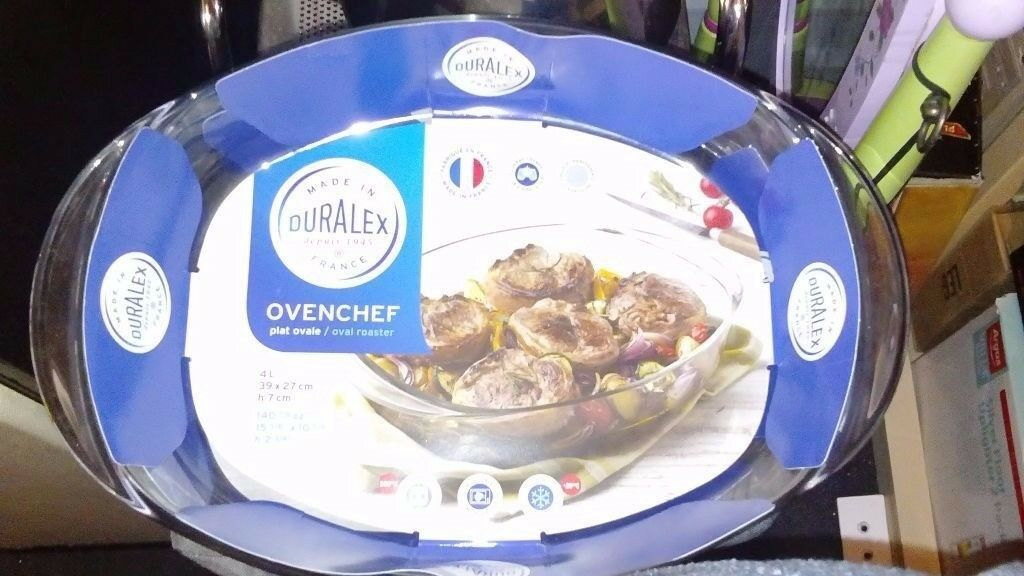 Duralex 39 x 27 cm Oven Chef Oval Roaster new
