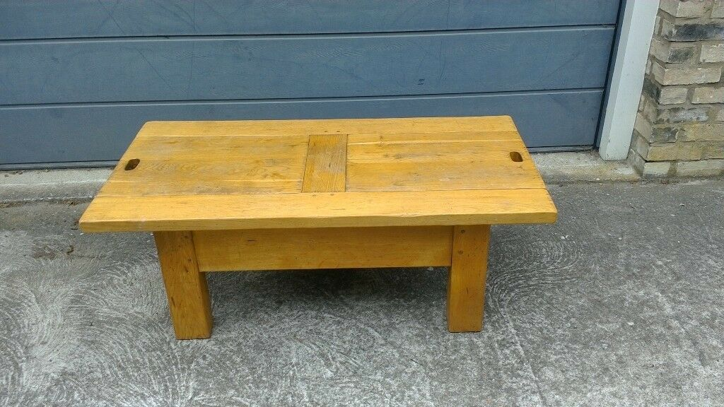Top Quality Solid French Oak Coffee Table With Storage Rustic Distressed Finish