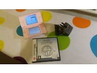 PRICE DROP - Pink Nintendo DS Lite, Charger and Brain Training Game