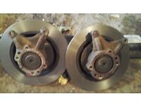 FORD FIESTA ST 3 2015 REAR AXLE WITH DISCS AND 1 REAR AXLE STUB