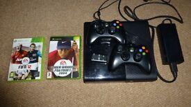 XBox 360 E Console, Slim 250GB Model, Controllers, Games