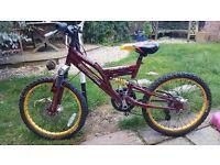 "Boys bike 20"" wheels great condition"
