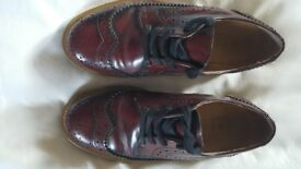 Burgundy leather brogues size 3