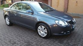 VW EOS 1.6 FSI, Cabriolet, Cream Leather, Grey Metallic, Petrol, 2 Previous owners